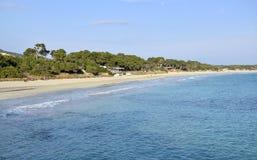 Spend the summer. On the beach of Salinas Ibiza Stock Photo