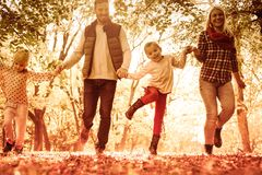 Spend time with children. Family spending day in park royalty free stock image