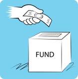 Spende, Nächstenliebe und Mittelbeschaffung lizenzfreie stockbilder