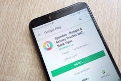 Spendee - traqueur de budget et d'argent avec l'appli de synchronisation de banque sur le site Web de Google Play Store montré su photo libre de droits