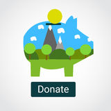 Spenden für den Naturschutz Stockfoto