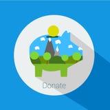 Spenden für den Naturschutz Lizenzfreie Stockfotografie