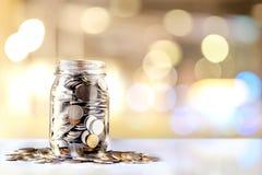 Spenden-Glas mit Kopien-Raum Lizenzfreie Stockfotografie