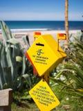 Spenden-Kasten-@ Heißwasser-Strand, Coromandel Stockfotografie