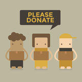 Spenden Sie bitte Jungen und Mädchen Stockfotos