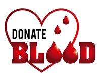 Spenden Sie Blut Stockfotografie