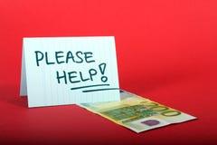 Spenden Sie Geld Stockfotografie