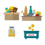 Spenden Sie Hilfssymbol-Vektorillustration Stockbilder