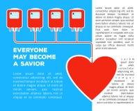 Spenden Sie Ihr Blut Stockfotografie
