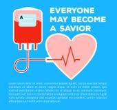 Spenden Sie Ihr Blut Stockbilder