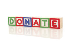 Spenden Sie Kampagne stockfotografie
