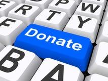Spenden Sie Knopf auf Tastatur Stockbild