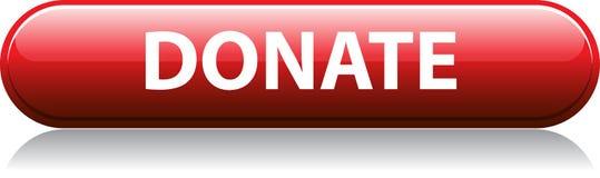 Spenden Sie roten Knopf lizenzfreie abbildung
