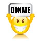 Spenden Sie Vektorzeichen Stockbilder