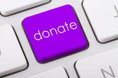 Spenden Sie Wort Stockbild