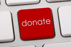 Spenden Sie Wort Lizenzfreies Stockbild