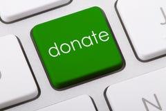 Spenden Sie Wort Lizenzfreie Stockfotos