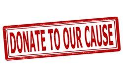 Spenden Sie zu aur Ursache stock abbildung