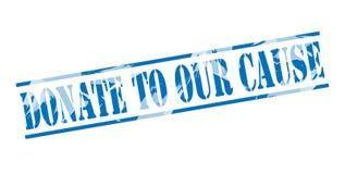 Spenden Sie zu unserem blauen Stempel der Ursache vektor abbildung