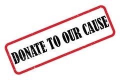 Spenden Sie zu unserer Ursache lizenzfreie abbildung
