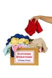 Spenden von Kleidung Stockfotos