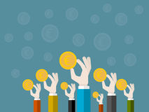 Spendenaktion Lizenzfreies Stockfoto