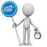 Spendera kvalitets- tid Fotografering för Bildbyråer