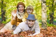 Spendera tid med familjen Arkivbild