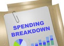 Spending Breakdown - business concept Stock Images