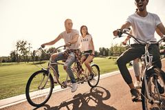 Spending carefree day together. Royalty Free Stock Photo