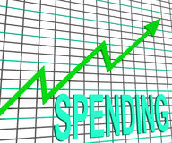Spending Chart Graph Shows Increasing Expenditure Royalty Free Stock Image