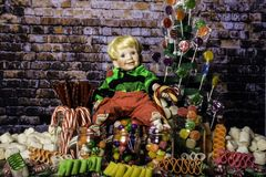 Spending Christmas in Candy Land Stock Image