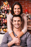 Spending Christmas together. Royalty Free Stock Photo