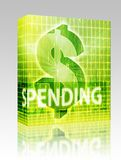 Spending Finance illustration box package Stock Image
