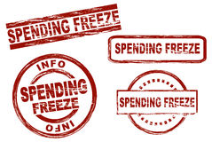 Spending freeze Stock Photo