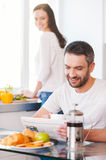 Spending good morning together. Royalty Free Stock Photography