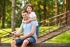 Spending good time with father. Royalty Free Stock Photo