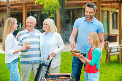 Spending great time with family. Royalty Free Stock Photos