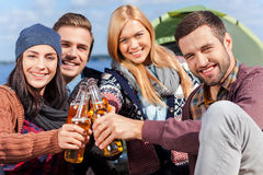Spending great time with friends. Stock Images