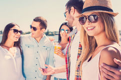 Spending great time with friends. Royalty Free Stock Photo