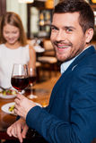 Spending great time in restaurant. Stock Photography