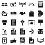 Spending icons set, simple style. Spending icons set. Simple set of 25 spending vector icons for web isolated on white background Stock Photography