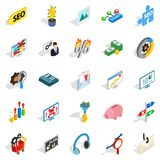 Spending on the internet icons set Stock Image