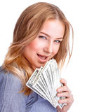 Spending money concept Stock Image