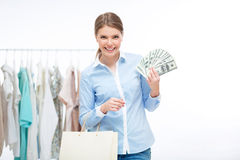 Spending money Stock Images
