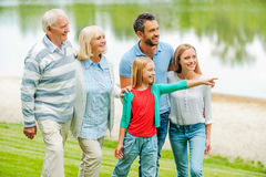 Spending quality time with family. Stock Photo