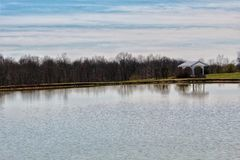 Spending a quiet day by the lake-Priceless royalty free stock image