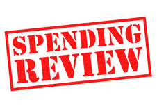 SPENDING REVIEW. Red Rubber Stamp over a white background Royalty Free Stock Photography
