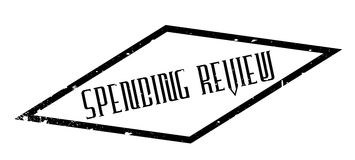 Spending Review rubber stamp. Grunge design with dust scratches. Effects can be easily removed for a clean, crisp look. Color is easily changed Royalty Free Stock Photo