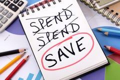Saving money plan Royalty Free Stock Photos